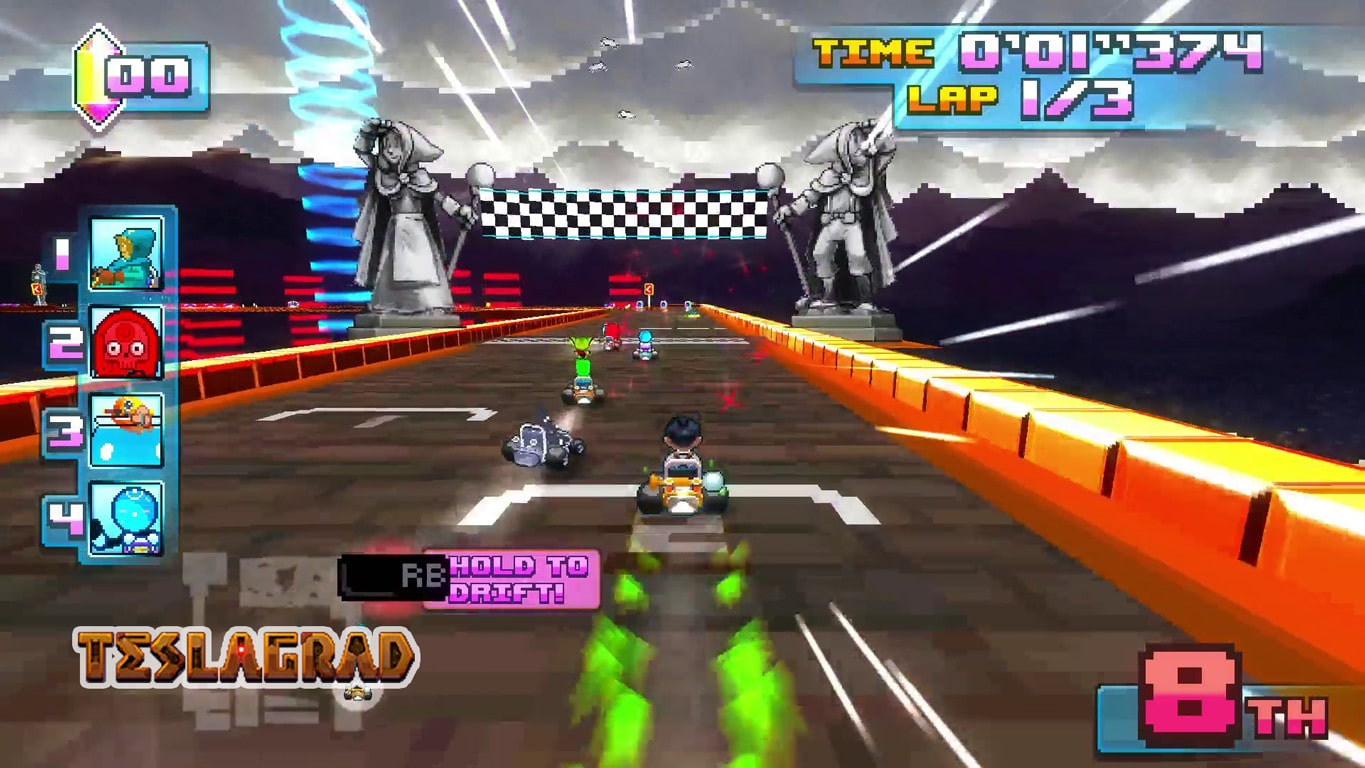 Super Indie Karts, a real Mario Kart 64 tribute.